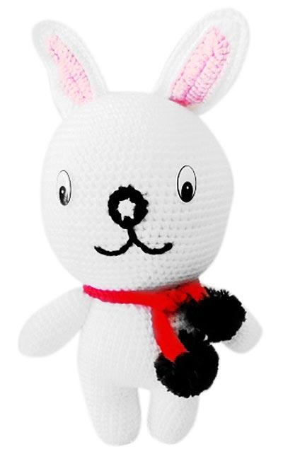 Điện hoa tươi và Quà tặng - Thỏ bông đan len (9x35cm)