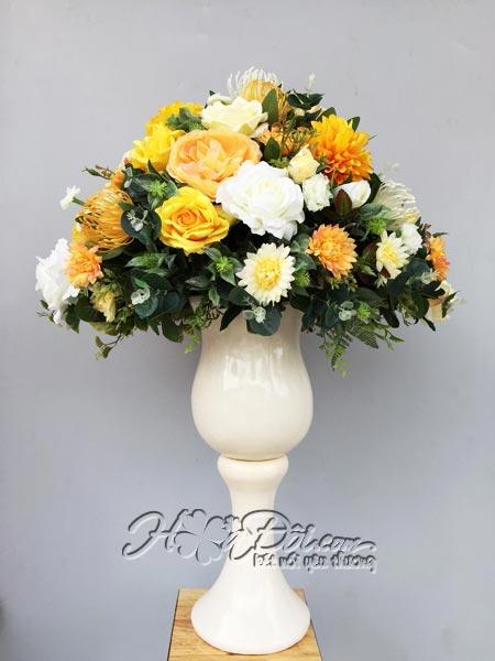 Hoa vải cao cấp, hoa lụa, hoa giả