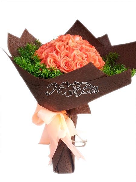 Điện hoa tươi và Quà tặng - Hồng cam