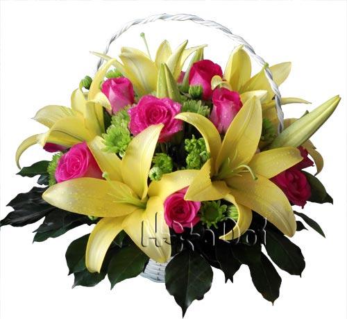 Điện hoa tươi và Quà tặng - Rạng rỡ Lily & Hồng