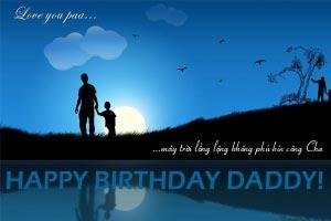 Thiệp sinh nhật Bố số 1