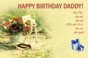 Thiệp sinh nhật Bố số 2