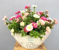Bình hoa vải
