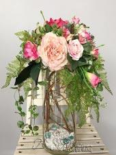Bình hoa vải Dáng xưa