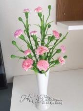 Hoa đất sét hoa cẩm chướng hồng