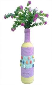 Bình hoa dài quấn thừng màu