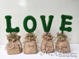 Bộ chậu cây chữ LOVE