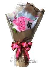 Bó hoa sáp 12 bông hồng phấn