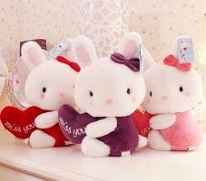 Thỏ bông ôm tim (32cm)